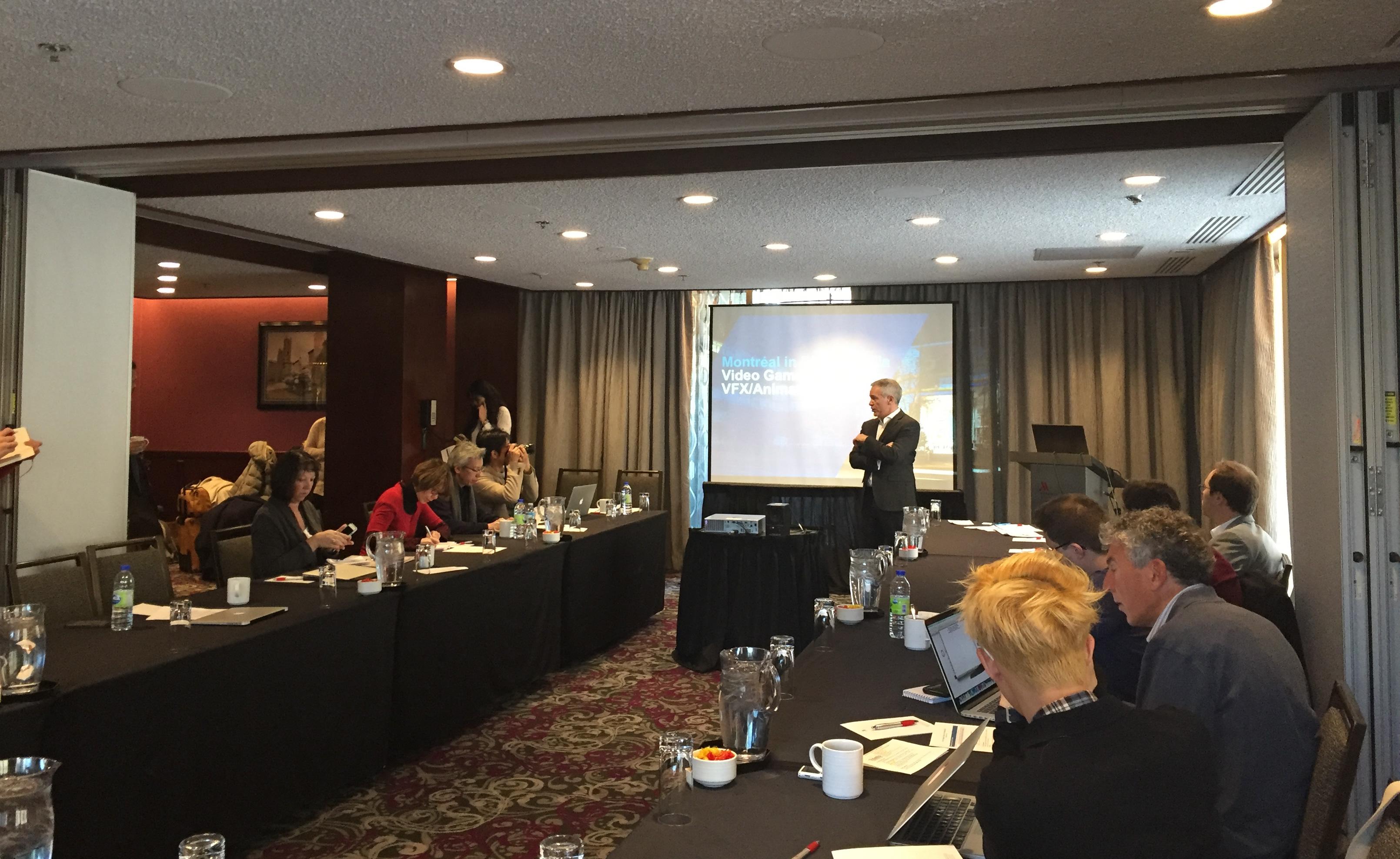 Stéphane Paquet, vice-président, Investissement Grand Montréal, Montréal International a ouvert le programme de la journée avec un portrait de la métropole et de son environnement concurrentiel.