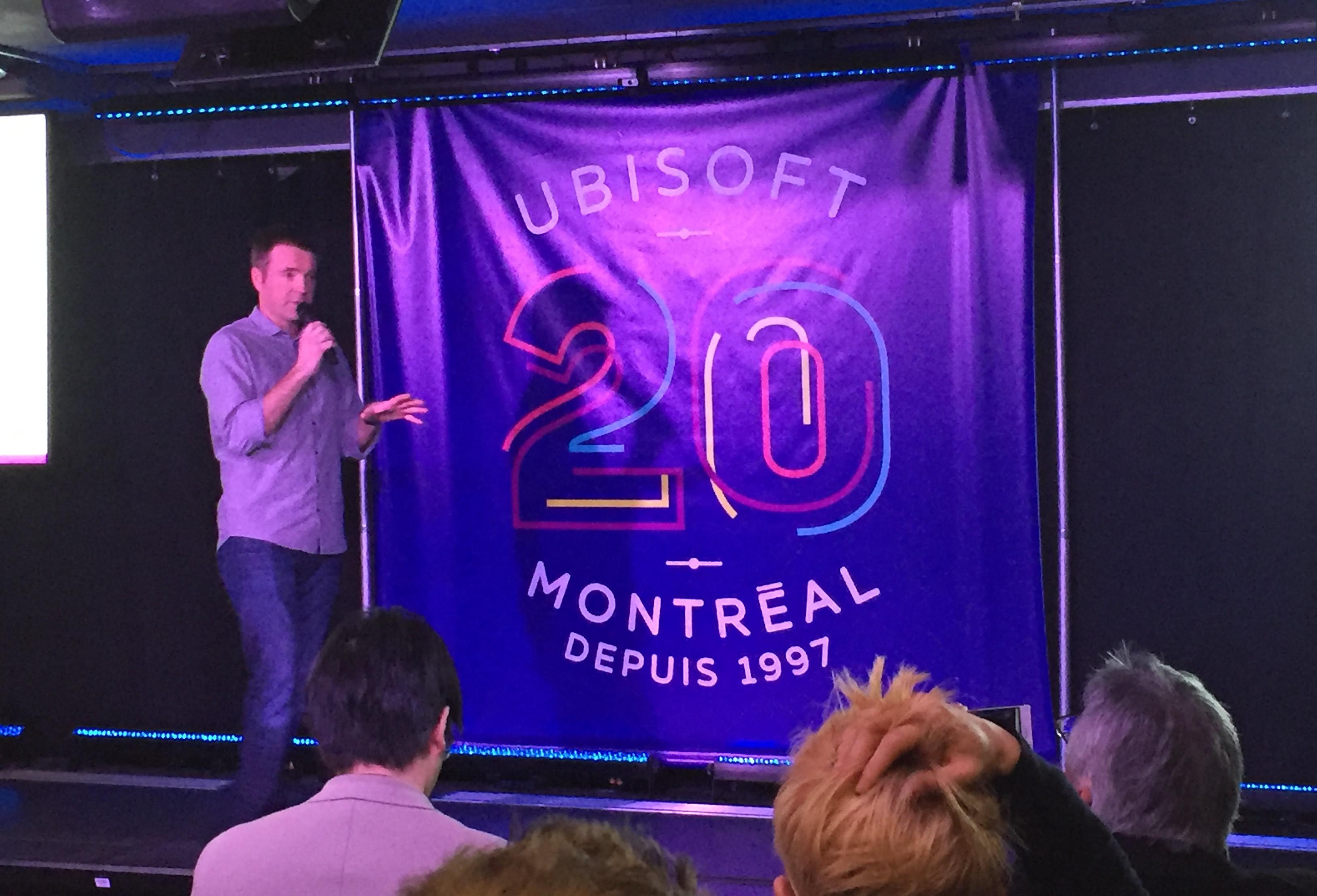 Yannis Mallat, président-directeur général de Ubisoft Montréal a brossé un portrait global de la firme, depuis son arrivée à Montréal jusqu'à aujourd'hui.